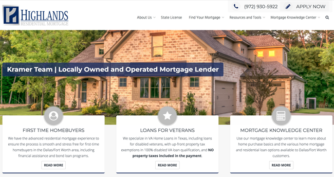 Jeff Kramer | Dallas/Fort Worth Residential Mortgage Lender | Mortgage Lender Website
